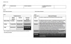 Page 2 of risk assessment template